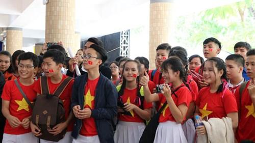 Học sinh tham gia ngày hội